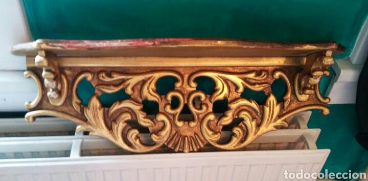 Antigüedades: Peana o mensula antigua en madera policromada - Foto 6 - 179109711