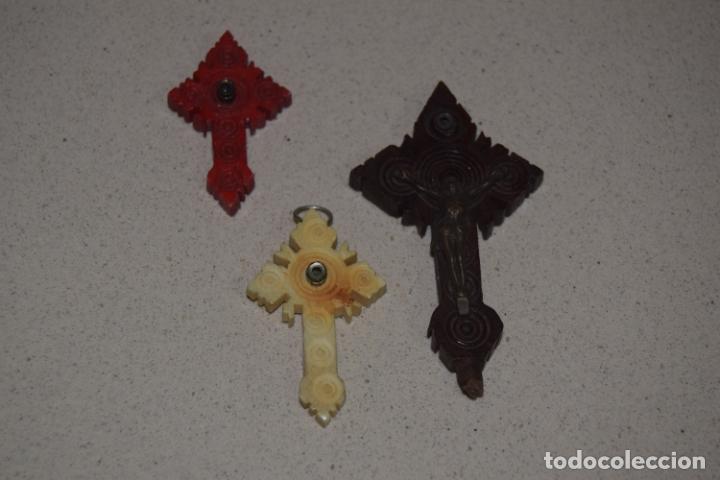 TRES CRUCES STANHOPE (Antigüedades - Religiosas - Cruces Antiguas)