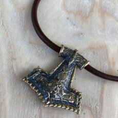 Antigüedades: THOR HAMMER PENDANT - BRONZE VIKING JEWELRY - HAMMER OF THOR -. Lote 179112528