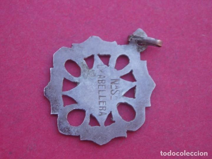 Antigüedades: Medalla Antigua en Plata Virgen de Abellera. Prades. Tarragona. - Foto 2 - 179113396
