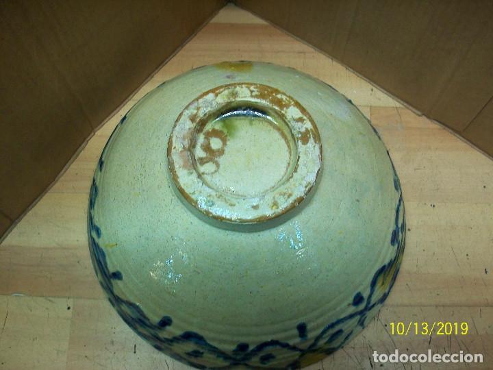 Antigüedades: ANTIGUA FUENTE O LEBRILLO DE CERAMICA GRANADINA - Foto 6 - 179114008
