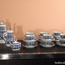Antigüedades: JUEGO CAFÉ 12 SERVICIOS VIZ EXTRAORDINARIAS PIEZAS DEL CASTRO SARGADELOS. Lote 179116593