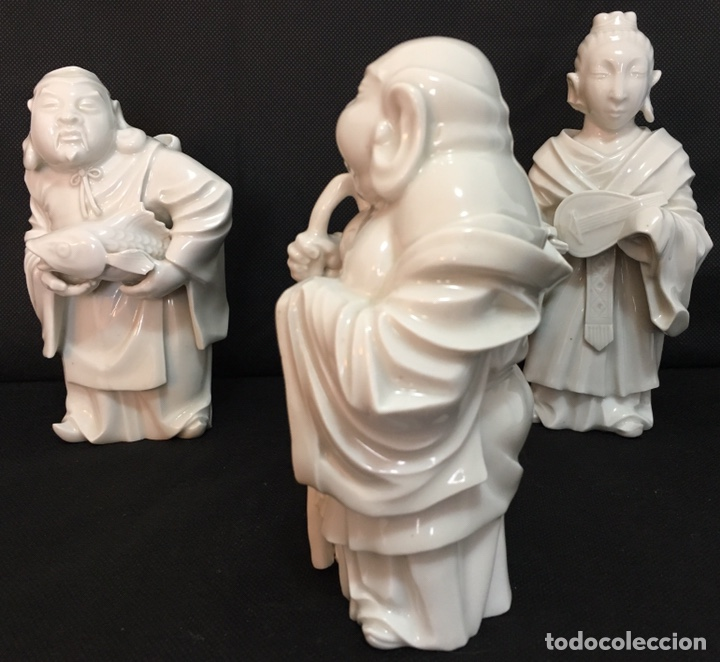 Antigüedades: Dioses orientales Algora de porcelana vidriada - Foto 4 - 179117836