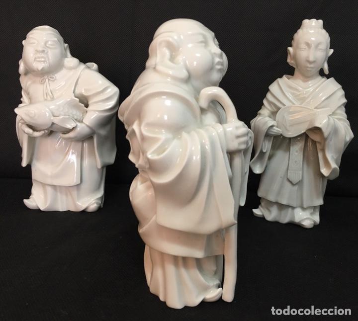 Antigüedades: Dioses orientales Algora de porcelana vidriada - Foto 7 - 179117836