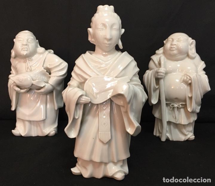 Antigüedades: Dioses orientales Algora de porcelana vidriada - Foto 10 - 179117836