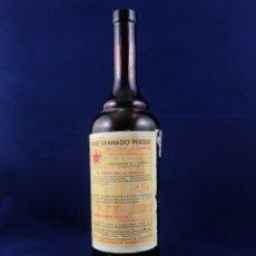 Antigüedades: ANTIGUA BOTELLA DE MEDICAMENTO - VINO URANADO PESQUI ANTIDIABETICO - CON ETIQUETA. Lote 179120971