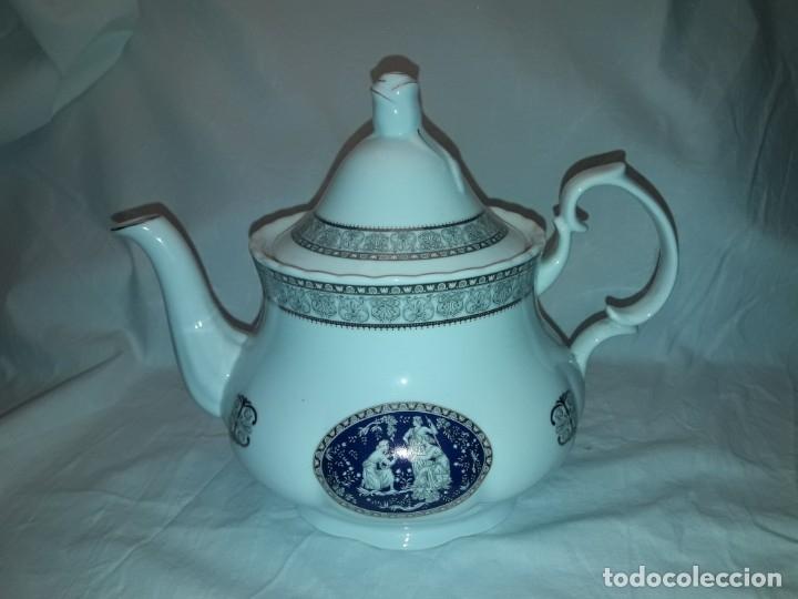 BELLA TETERA BELLE EPOQUE FINE PORCELANA DECORACIÓN PLATA (Antigüedades - Porcelanas y Cerámicas - Otras)
