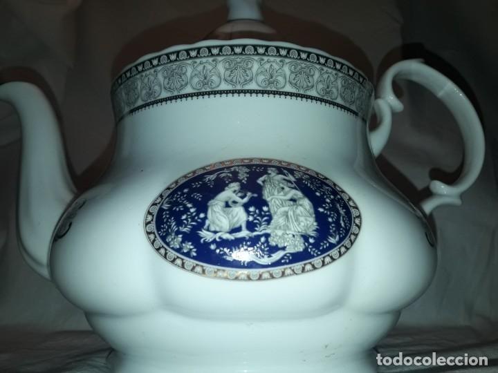 Antigüedades: Bella Tetera Belle Epoque Fine Porcelana decoración plata - Foto 4 - 253065290