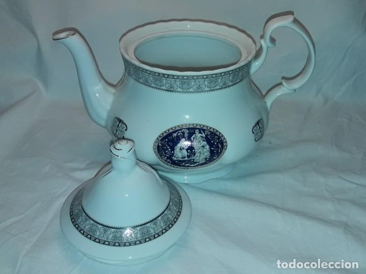 Antigüedades: Bella Tetera Belle Epoque Fine Porcelana decoración plata - Foto 7 - 253065290