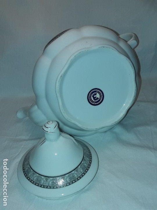 Antigüedades: Bella Tetera Belle Epoque Fine Porcelana decoración plata - Foto 9 - 253065290