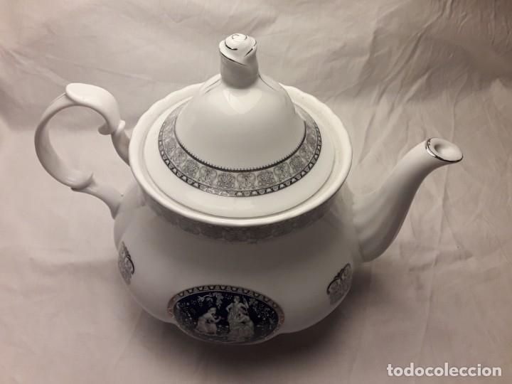 Antigüedades: Bella Tetera Belle Epoque Fine Porcelana decoración plata - Foto 12 - 253065290