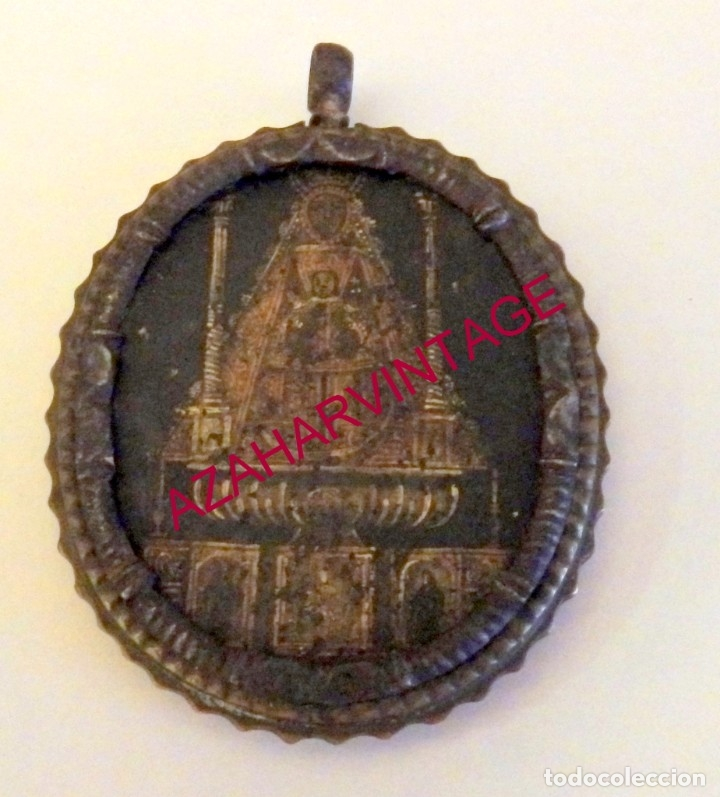 SIGLO XVIII, RARISIMA MEDALLA DE LA VIRGEN DE REGLA DE CHIPIONA, 44X52 MM (Antigüedades - Religiosas - Medallas Antiguas)