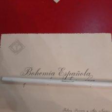 Antigüedades: TRAJERON BOHEMIA ESPAÑA FELICES FIESTAS Y ALO NUEVO DIRIGIDO LUGO. Lote 179136768