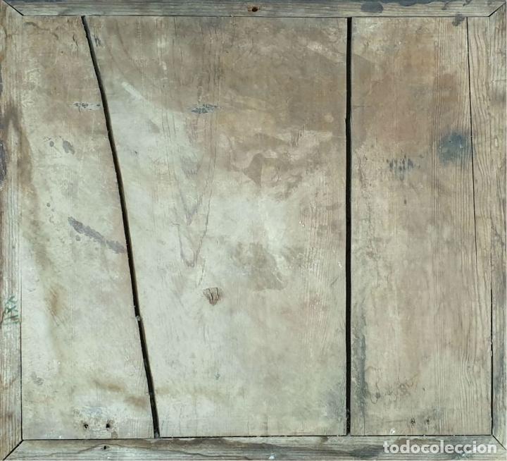Antigüedades: COMPOSICIÓN DE 4 AZULEJOS BARROCOS. CERÁMICA CATALANA. SIGLO XVII-XVIII. - Foto 2 - 179137462
