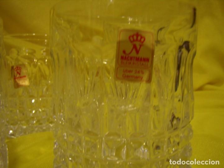 Antigüedades: Juego Whisky cristal tallado con cubitera, Alemán 24% PBO plomo de Nachtmann, 7 unid,Nuevo sin usar. - Foto 5 - 179138530