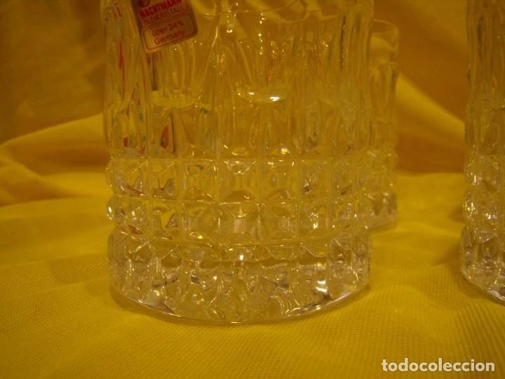 Antigüedades: Juego Whisky cristal tallado con cubitera, Alemán 24% PBO plomo de Nachtmann, 7 unid,Nuevo sin usar. - Foto 10 - 179138530