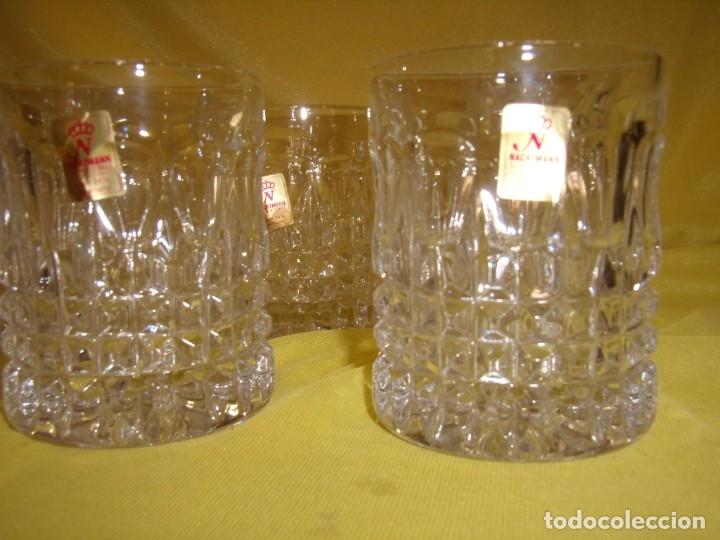 Antigüedades: Juego Whisky cristal tallado con cubitera, Alemán 24% PBO plomo de Nachtmann, 7 unid,Nuevo sin usar. - Foto 12 - 179138530