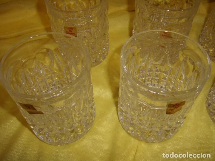 Antigüedades: Juego Whisky cristal tallado con cubitera, Alemán 24% PBO plomo de Nachtmann, 7 unid,Nuevo sin usar. - Foto 14 - 179138530