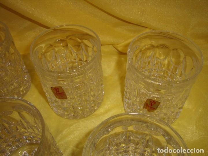Antigüedades: Juego Whisky cristal tallado con cubitera, Alemán 24% PBO plomo de Nachtmann, 7 unid,Nuevo sin usar. - Foto 15 - 179138530