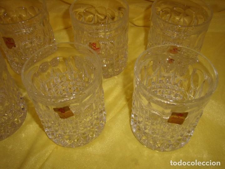 Antigüedades: Juego Whisky cristal tallado con cubitera, Alemán 24% PBO plomo de Nachtmann, 7 unid,Nuevo sin usar. - Foto 16 - 179138530