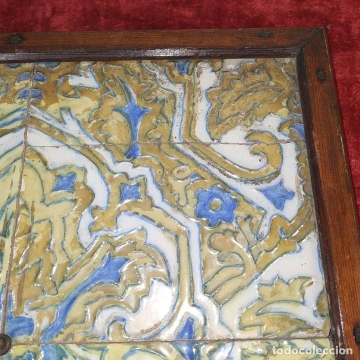 Antigüedades: CONJUNTO DE AZULEJOS SIGLO XIX. CERÁMICA. ESMALTE CUERDA SECA. ESPAÑA. - Foto 5 - 179139688