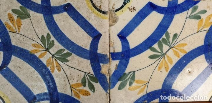 Antigüedades: COMPOSICIÓN DE 4 AZULEJOS. CERÁMICA CATALANA ESMALTADA. SIGLO XVIII-XIX. - Foto 2 - 179140328