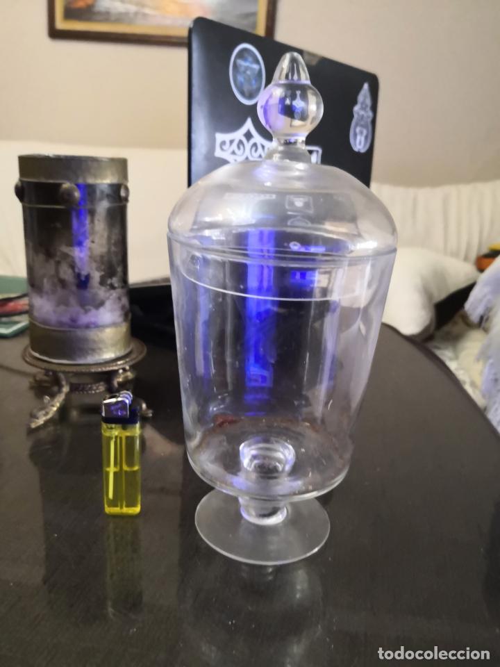 URNA DE VIDRIO (Antigüedades - Cristal y Vidrio - Otros)