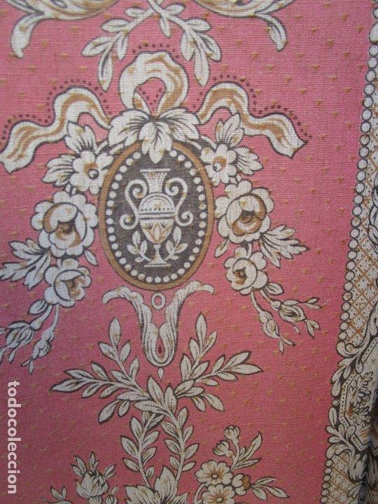 Antigüedades: Antiguo Biombo - 3 Hojas - Tapizado en Tela - Separador - Principios S. XX - Foto 7 - 179142822