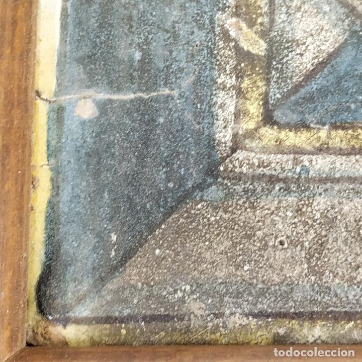 Antigüedades: AZULEJO DE ESTILO RENACENTISTA. CERÁMICA ESMALTADA. CATALUNYA. ESPAÑA. XVI-XVII - Foto 2 - 179143828