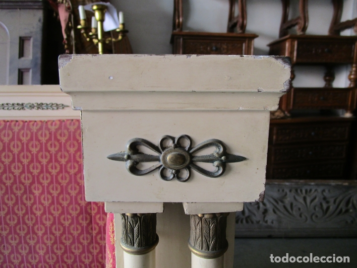 Antigüedades: Bonito Sofá, Tresillo Estilo Imperio - Madera de Caoba - Laca Blanca - Decoraciones en Bronce - Foto 7 - 179144808