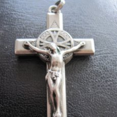 Antigüedades: ANTIGUA CRUZ - CRUCIFIJO RELICARIO DE SANTA TERESA DE JESUS. Lote 179145952
