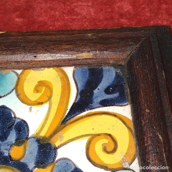 Antigüedades: AZULEJO BARROCO. CERÁMICA ESMALTADA. CATALUNYA. ESPAÑA. SIGLOS XVII-XVIII - Foto 4 - 179146287