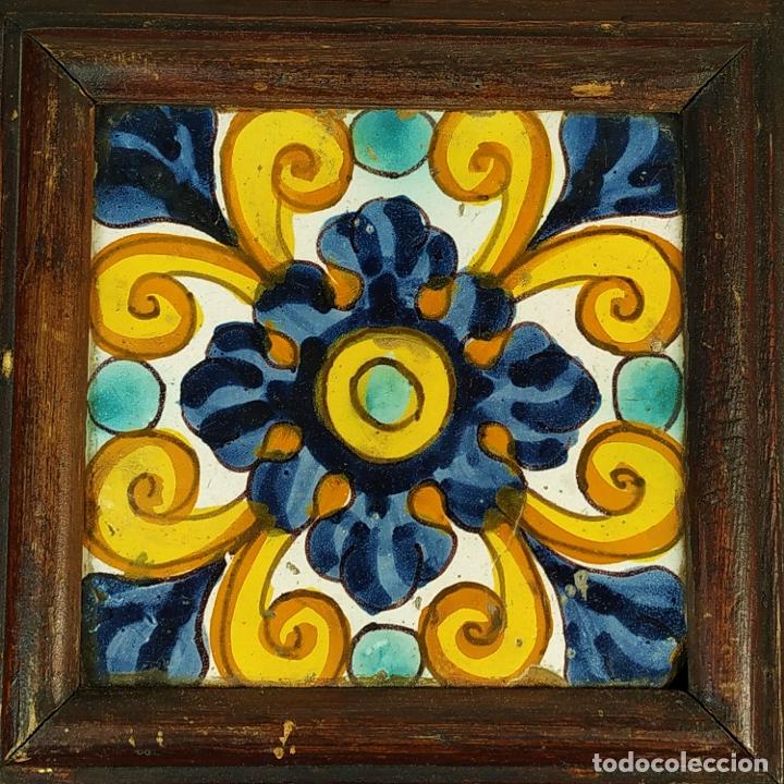 AZULEJO BARROCO. CERÁMICA ESMALTADA. CATALUNYA. ESPAÑA. SIGLOS XVII-XVIII (Antigüedades - Porcelanas y Cerámicas - Azulejos)