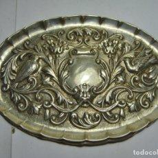 Antigüedades: BANDEJA DE PLATA MACIZA .925 MLS (CON CONTRASTES). PLATA TRABAJADA.. Lote 179147693