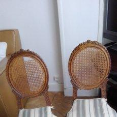 Antigüedades: SILLAS MADERA Y REJILLA. Lote 179147897