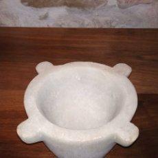 Antigüedades: ANTIGUO MORTERO DE MARMOL, ALMIREZ. ALTO 10 CM DIAMETRO 14.5 CM. Lote 179149968