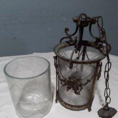 Antigüedades: FAROL DE BRONCE. Lote 179151136