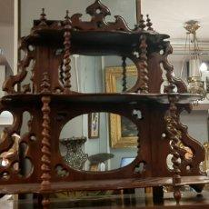 Antigüedades: ESTANTERÍA CAOBA FINALES XIX. Lote 179165370