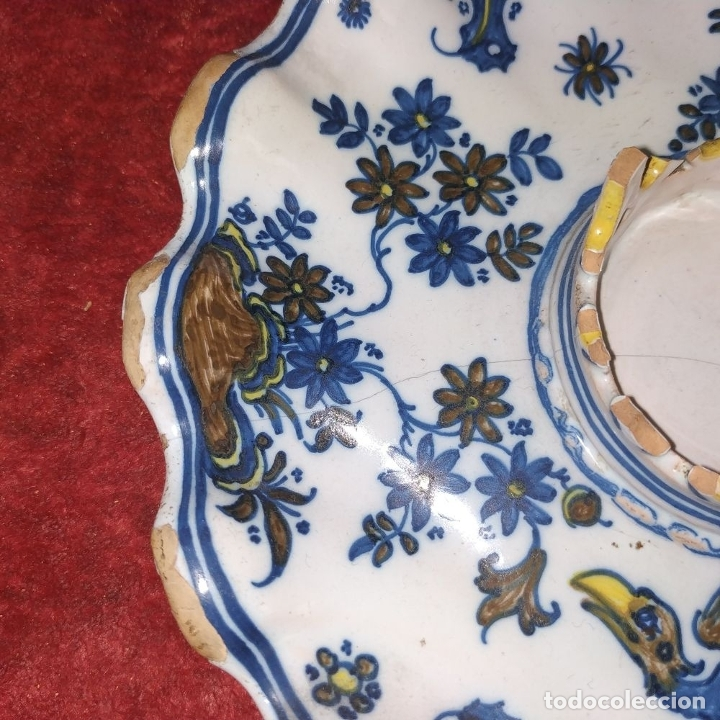Antigüedades: MANCERINA ALCORA. CERÁMICA ESMALTADA. ESPAÑA. SIGLO XVIII - Foto 6 - 179171181