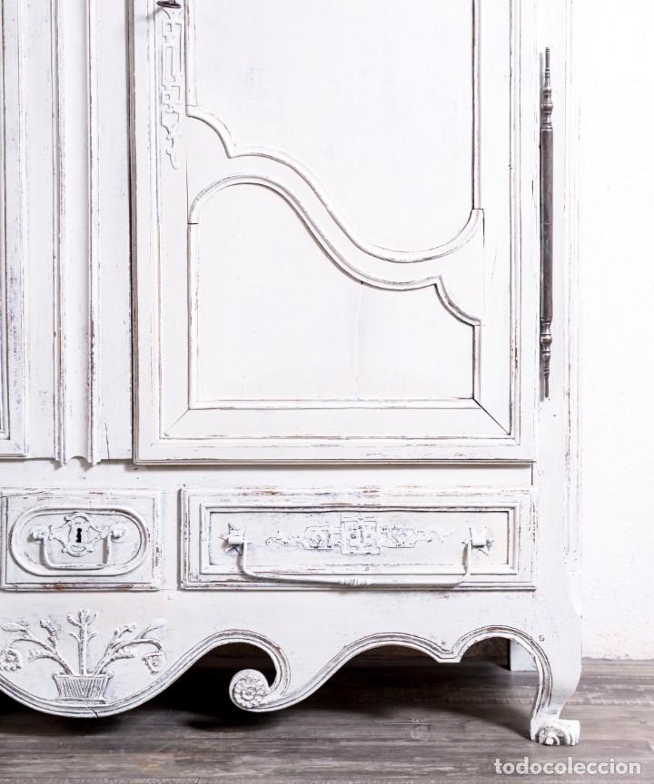 Antigüedades: Armario Francés Antiguo Restaurado Annette - Foto 4 - 179180243
