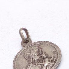 Antigüedades: ESCAPULARIO DE PLATA. Lote 179180878