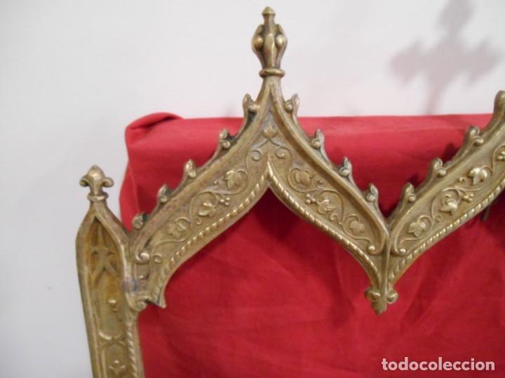 Antigüedades: ANTIGUA SACRA DE BRONCE DORADO - NEOGOTICA -. CIRCA 1900 - - Foto 4 - 179181233