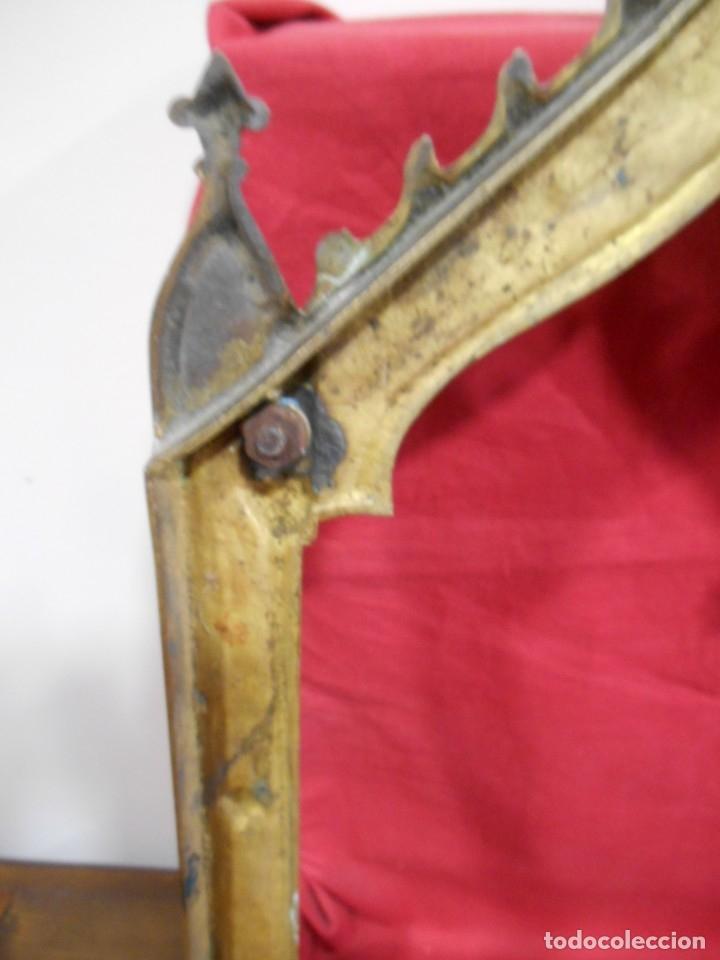 Antigüedades: ANTIGUA SACRA DE BRONCE DORADO - NEOGOTICA -. CIRCA 1900 - - Foto 8 - 179181233