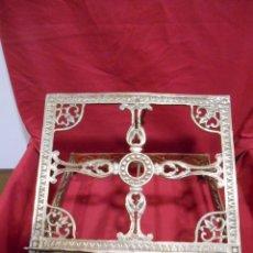 Antigüedades: PRECIOSO ATRIL DE SOBRE MESA EN BRONCE DORADO - SIGLO XIX-XX -. Lote 179182446