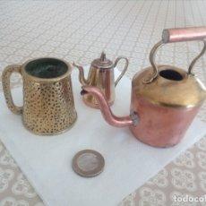 Antigüedades: MINIATURAS DE COBRE,LATÓN Y METAL BLANCO. Lote 179183727