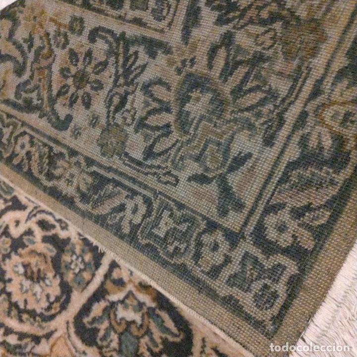 Antigüedades: Alfombra de tonos azules y ocres - Foto 8 - 135031010
