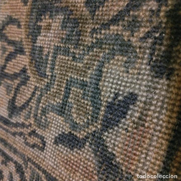 Antigüedades: Alfombra de tonos azules y ocres - Foto 9 - 135031010