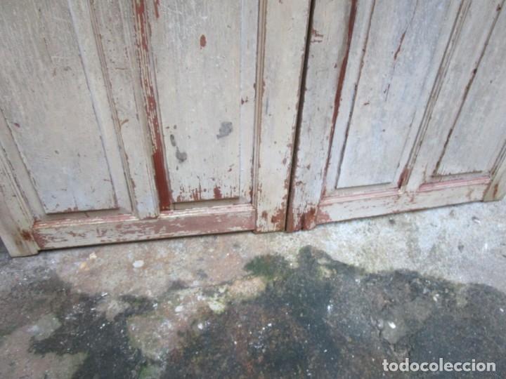 Antigüedades: ANTIGUA PUERTA DE 2 HOJAS - DE INTERIORES, PINO OREGON O RIGA - 213x122.5x2.5CM + INFO - Foto 4 - 179192267