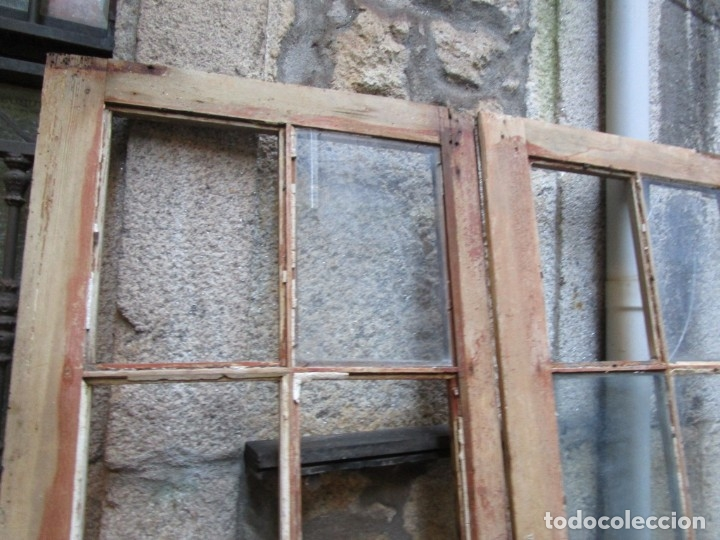 Antigüedades: ANTIGUA PUERTA DE 2 HOJAS - DE INTERIORES, PINO OREGON O RIGA - 213x122.5x2.5CM + INFO - Foto 6 - 179192267