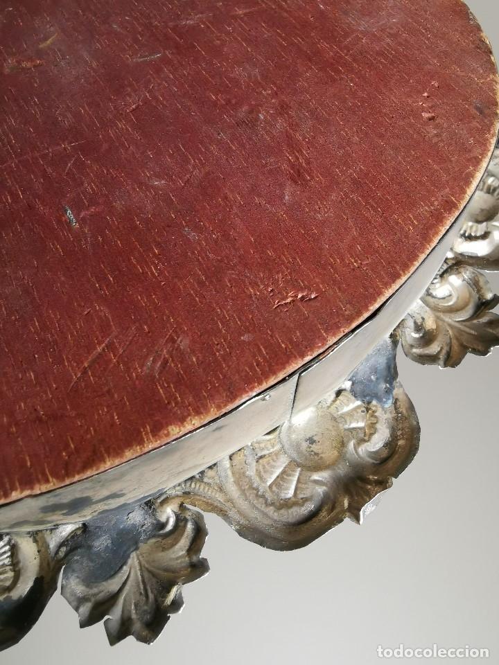 Antigüedades: RELICARIO CUSTODIO DEVOCIONAL DE LA VIRGEN DEL ROCIO-PLATA DE LEY 925 CAPILLA - Foto 10 - 179195870